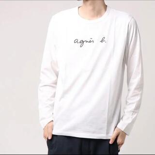 アニエスベー(agnes b.)のメンズ agnes b. アニエスベーの長袖ロゴTシャツ サイズ3(Tシャツ(半袖/袖なし))