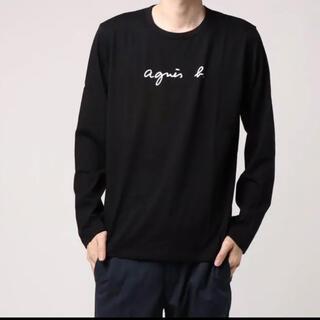 アニエスベー(agnes b.)のメンズ agnes b. アニエスベーの長袖ロゴTシャツ サイズ3ブラック(Tシャツ(半袖/袖なし))