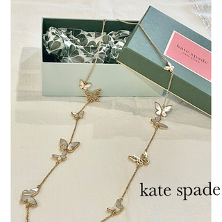 kate spade new york - kate spade ケイトスペード  バタフライロングネックレス  蝶々
