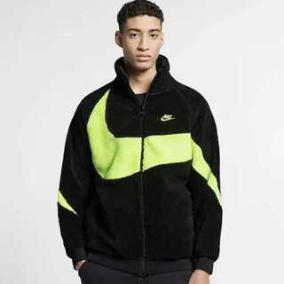 Nike boa jacket ナイキ ボアジャケット ネオン ブルゾンフリース(ブルゾン)