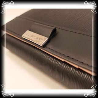 JILLSTUART - 訳有り 新品 ジルスチュアート 革 二つ折り 財布 ¥15,400 黒 JILL