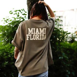 Tシャツ マイアミバックプリントTシャツ(Tシャツ/カットソー(半袖/袖なし))
