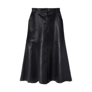 ルシェルブルー(LE CIEL BLEU)のLE CIEL BLEU  フェイクレザーミディスカート(ロングスカート)