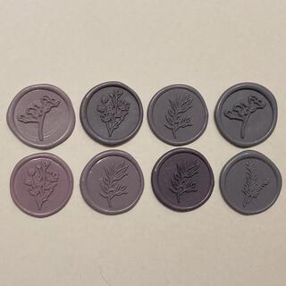 シーリングスタンプ 紫系 8個セット(カード/レター/ラッピング)