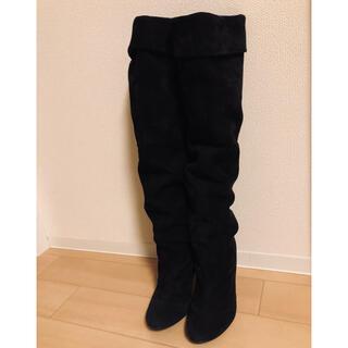 エスペランサ(ESPERANZA)のスウェードロングブーツ ブラック(ブーツ)