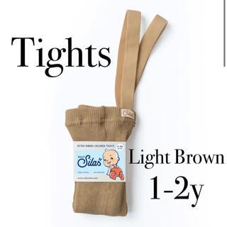ボンポワン(Bonpoint)のsilly silas シリーサイラス Light Brown タイツ(靴下/タイツ)