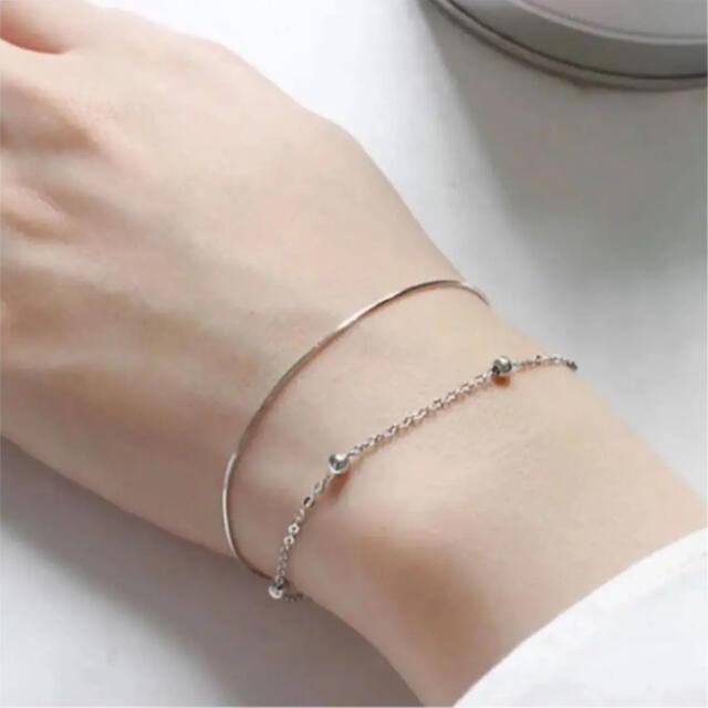 BEAUTY&YOUTH UNITED ARROWS(ビューティアンドユースユナイテッドアローズ)のsilver 925 snake chain&dot bracelet レディースのアクセサリー(ブレスレット/バングル)の商品写真