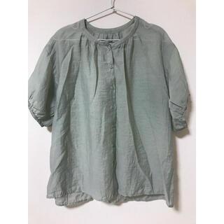 GRL - 美品*グレイル*シアーシャツ半袖*グリーン