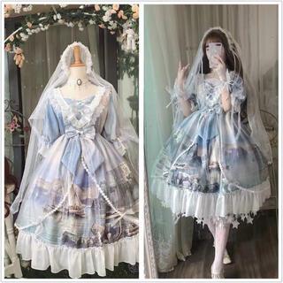 ヨーロッパ 白鳥のお城 ゴスロリ 森ガール ドレス高品質(衣装一式)