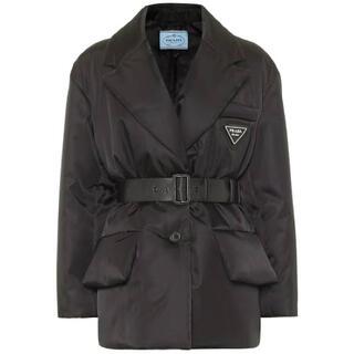 PRADA - 新品 prada プラダ ボタン ダウンジャケット ブルゾン コート ブラック