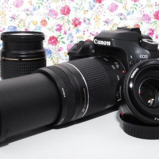 Canon - 【超人気】Canon EOS 80D トリプルレンズ 豪華付属品付き!!
