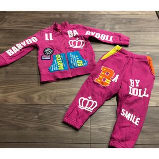 ベビードール(BABYDOLL)のベビードール セットアップ 90 子供服 上着 ズボン(ジャケット/上着)