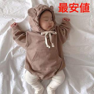 【最安値】クマ耳♡ロンパース 韓国子供服