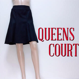 QUEENS COURT - 満点♪クイーンズコート ひざ丈 ウールフレアスカート♡リランドチュール ザラ