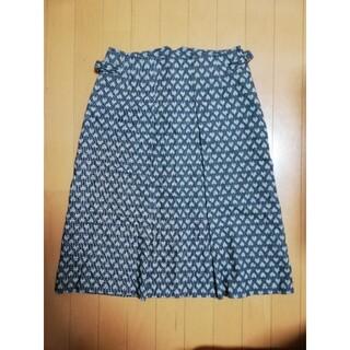 スカート ハート柄 グレー M 日本製(ひざ丈スカート)