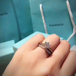 Tiffany & Co. - ☆Tiffanyハーモニー☆Pt950ダイヤモンドリング