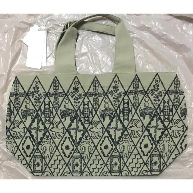 mina perhonen(ミナペルホネン)のミナペルホネン パニーニバッグ シンフォニー ベージュ レディースのバッグ(トートバッグ)の商品写真