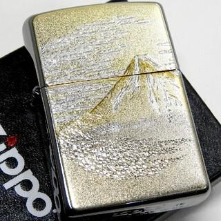 ジッポー(ZIPPO)の(送料込み)ZIPPO◇電鋳版メタル張り◇金富士◇ ジッポ(タバコグッズ)