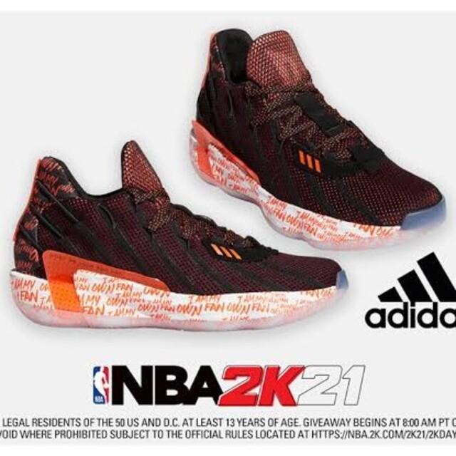 adidas(アディダス)のadidas  dame7 NBA 2K20 US8.0 スポーツ/アウトドアのスポーツ/アウトドア その他(バスケットボール)の商品写真