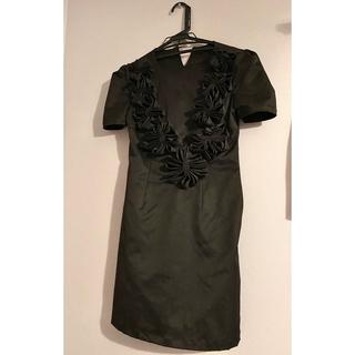 ミュウミュウ(miumiu)の60s Vintage Satin Black Dress(ミニワンピース)