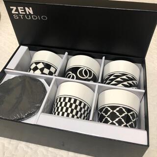 marimekko - 新品 ZEN STUDIO モノトーンカップ&コースターセット