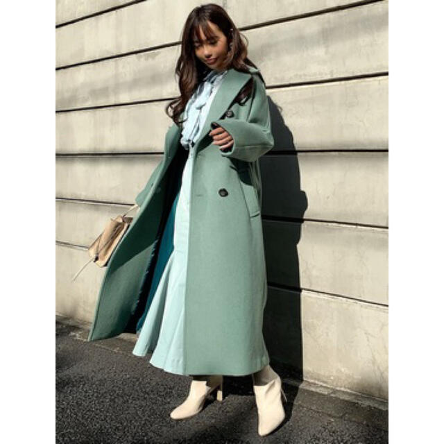 rienda(リエンダ)のrienda ルーズテーラーウールコート レディースのジャケット/アウター(ロングコート)の商品写真