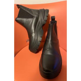 H&M - H&M 2020購入 サイドゴア ブーツ 黒 black 合皮