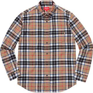 Supreme - Supreme Tartan Flannel Shirt Tan シャツ