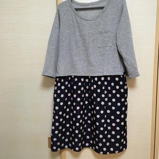 マタニティ  授乳服 ワンピース L(マタニティワンピース)