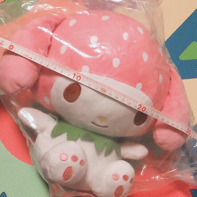 サンリオ(サンリオ)のマイメロちゃんぬいぐるみ エンタメ/ホビーのおもちゃ/ぬいぐるみ(ぬいぐるみ)の商品写真
