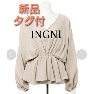 INGNI - 新品 タグ付 INGNI 2020 秋冬 Backリボンペプラムブラウス