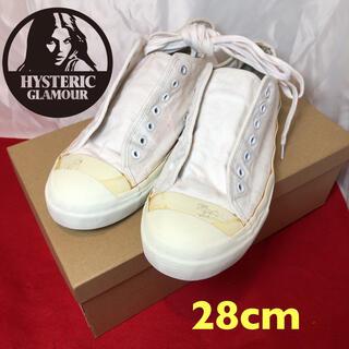 ヒステリックグラマー(HYSTERIC GLAMOUR)の【ヒステリックグラマー/hysteric スニーカー 28.cm  ホワイト(スニーカー)