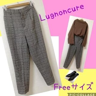 Techichi - ☆☆Lugnoncure☆ タック テーパードパンツ チェック フリーサイズ