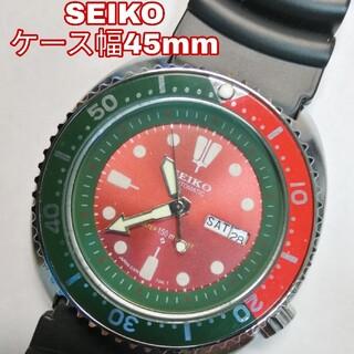 セイコー(SEIKO)のセイコー ビックフェイス ダイバーウォッチ 美品 動作品 機械式 自動巻 腕時計(腕時計(アナログ))