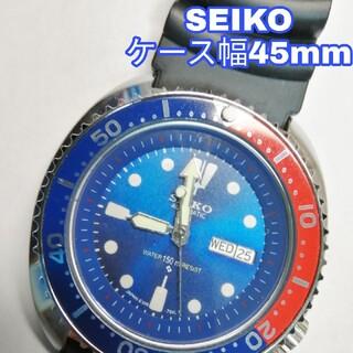 セイコー(SEIKO)の【訳あり】セイコー ビックフェイス ダイバーウォッチ 動作品 機械式自動巻腕時計(腕時計(アナログ))