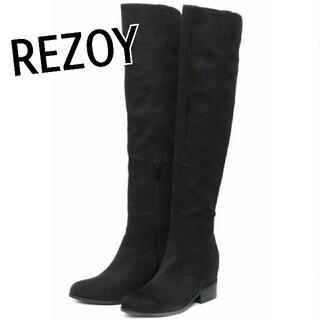 リゾイ(REZOY)のREZOY サイドラインインヒールニーハイブーツ R&E rienda eimy(ブーツ)