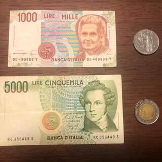 イタリア 旧紙幣&コイン(貨幣)