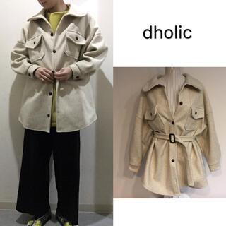 ディーホリック(dholic)の≪人気商品再入荷≫ジャケット オーバーサイズ かゆったり ベルト セット(その他)