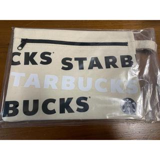 Starbucks Coffee - スタバ キャンバスポーチ 2020 ブラック 文字 黒
