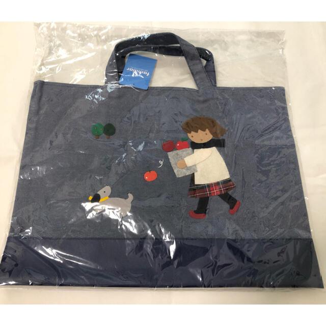 familiar(ファミリア)のファミリア デニムバッグ レッスンバッグ キッズ/ベビー/マタニティのこども用バッグ(レッスンバッグ)の商品写真