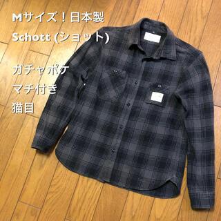 ショット(schott)のMサイズ!日本製 Schott (ショット) バッファローチェック 古着ワーク(シャツ)