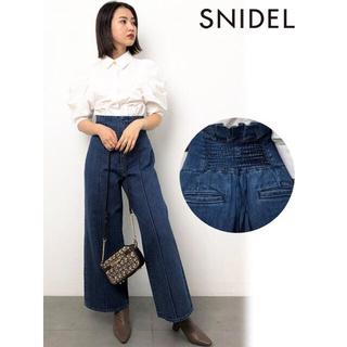 snidel - スナイデル バックデザインデニム