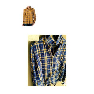 ワールドベーシック(WORLD BASIC)のネルシャツ チェックシャツ(シャツ/ブラウス(長袖/七分))