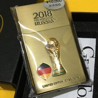 ジッポー(ZIPPO)のGEARTOP 高品質オイルライター FIFA限定 ドイツ ブラス 新品未使用(タバコグッズ)