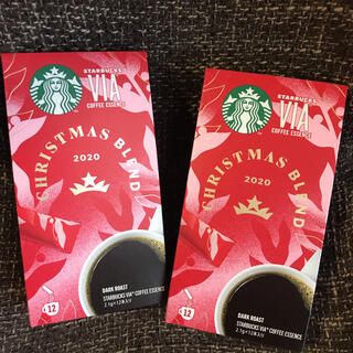 Starbucks Coffee - スターバックス VIA クリスマスブレンド12本×2箱 スタバ ヴィア
