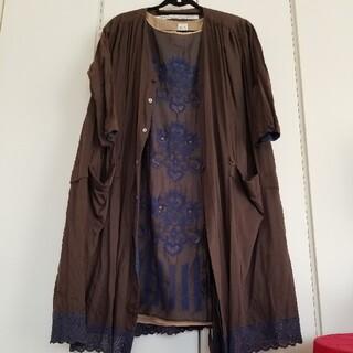 mina perhonen - ANTIPASTアンティパスト刺繍ワンピース&GASAガサ/レースローブ羽織り