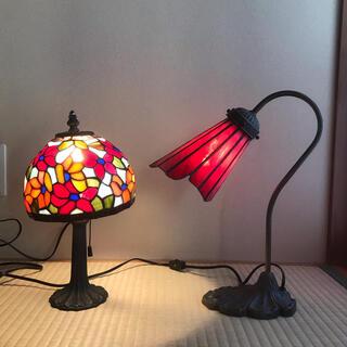 ステンドグラス ランプ ライト照明 インテリア雑貨 昭和レトロ アンティーク