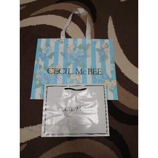セシルマクビー(CECIL McBEE)のCECILMcBEEセシルマクビー◆ショップ袋 ショッパー 紙袋 2枚(ショップ袋)