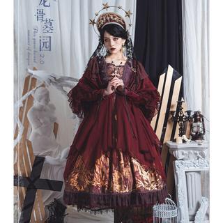 アンジェリックプリティー(Angelic Pretty)のゴシック ロリータ  やみかわ  龍骨の墓場 赤 フート付きガウン(その他)