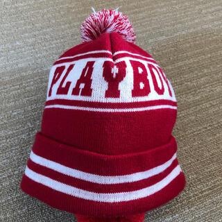 プレイボーイ(PLAYBOY)のポンポンが可愛い❤️ニット帽(ニット帽/ビーニー)